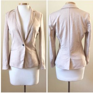 H&M Nude Stretch Career Blazer Jacket